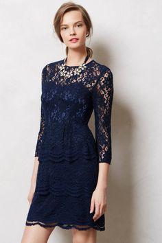 Anthropologie $178 - lace navy blue bridesmaids dress