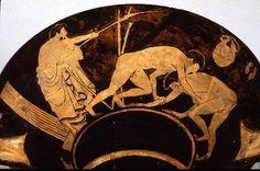 Ancient Wrestling Artwork