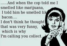 the cop told me i smelled like marijuana