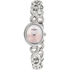 Rotary Ladies Pink Mother of Pearl Dial Sterling Silver Watch £207.20