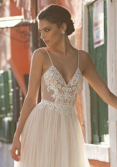 Courtesy of Gali Karten Wedding Dresses; www.galikarten.com; Wedding dress idea.