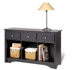 Amazon.com: Prepac Sonoma Black Living Room Console: Home & Kitchen