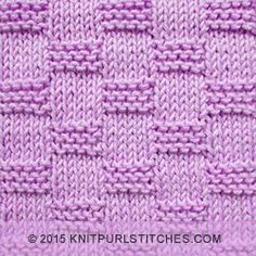 The Reversible pattern is created using only knit and purl stitches so it is perfect for beginners. | knitpurlstitches.com