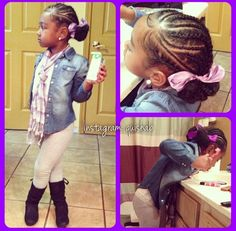 Her hair is so pretty. # Braids blackgirl kids 8 Hairstyles on Star Wars - Ultimate Fashion Trends for Girls Childrens Hairstyles, Lil Girl Hairstyles, Girls Natural Hairstyles, Natural Hairstyles For Kids, Kids Braided Hairstyles, Princess Hairstyles, My Hairstyle, Natural Hair Styles, Hairstyle Ideas