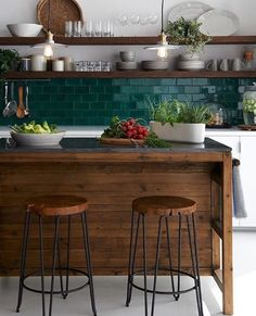 What a beautiful kitchen. Love the backsplash.