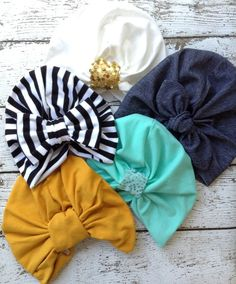 No more beanies! These turban hats are trendy and add a fashionable boho look .  Completely handmade with a soft cotton blend knit for all day wear and comfort.  Choose from any of the color options on the second photo and leave a note during checkout. >>if no color is selected we will choose the color for you<<  Add a BOW or RETRO KNOT HERE: http://charmingdamsel.storenvy.com/collections/527176-add-ons-upgrades/products/9669661-add-a-bow-or-retro-knot.   Note: this listing is for ONE turban…