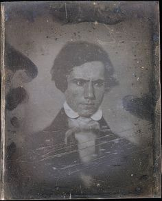 Unknown man, daguerreotype by Robert Cornelius, c. 1839.   Submitted by 50s60sand70s