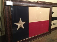 "Texas Flag - Framed Large Cloth Stitched Flag - 43"" x 31"""