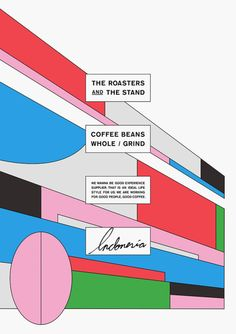 The roasters and the stand, Rapyard, 2015 Graphic Design Posters, Graphic Design Typography, Graphic Design Inspiration, Branding Design, Poster Designs, Graphisches Design, Layout Design, Logo Design, Posters Conception Graphique