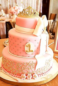 Is your princess's 1st birthday just around the corner? Well, this 3-tier Baby Pink Birthday Cake is just the right thing to make the celebrations grand and memorable.