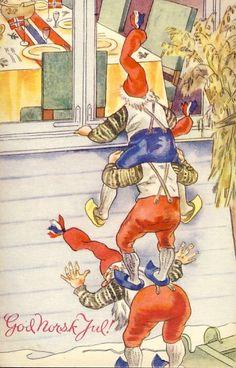 God Jul :-) mooie herinneringen kerst in Norge ...julenissen