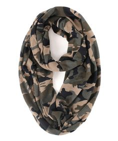 Another great find on #zulily! Earth Brown Camouflage Infinity Scarf by RQ #zulilyfinds