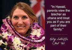 """Hawaii Milken Educator Kelly Sutcliffe (HI '16) knows teachers are underpaid and overworked, but she believes more will stay in education when they're reminded that teaching is a labor of love: """"If you keep the kids at the front of your mind and think about the direct impact you can have on their future, then all of the other stuff doesn't seem to matter."""" Kelly received her Award at Jefferson Elementary in Honolulu on February 2, 2017."""