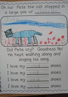 Class Book to use as follow up for Pete the Cat