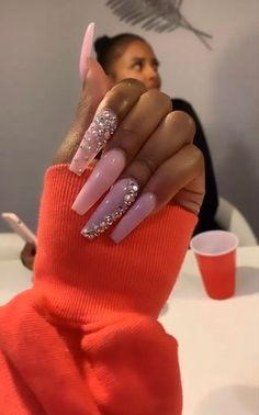 Fabulous Nails, Gorgeous Nails, Love Nails, How To Do Nails, Pretty Nails, My Nails, Bling Nails, Swag Nails, Stiletto Nails
