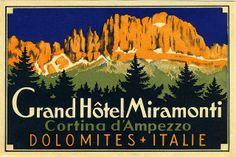 North Italy Hotel luggage label, via Flickr.