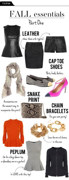 what to wear fall: leather, cap toe shoes, and snake print!