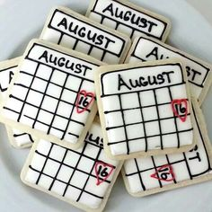 Cute save the date cookies