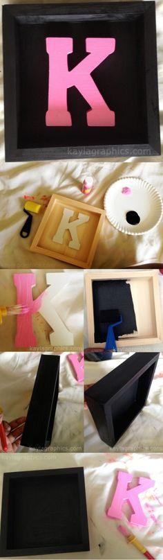 DIY Shadow Box Letter