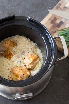 Creamy Herbed Chicken and Rice- made this in the instant pot on pressure for 12 minutes after browning chicken and sautéing onions and garlic- Really good :) Leslie