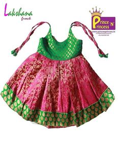 Buy traditional new born & girls pattu pavadai online only at www. Frocks For Girls, Kids Outfits Girls, Little Girl Dresses, Girl Outfits, Kids Girls, Kids Indian Wear, Kids Ethnic Wear, Baby Dress Design, Baby Girl Dress Patterns