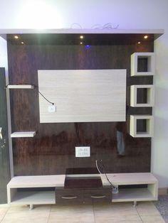 Tv Unit Interior Design, Tv Wall Design, Tv Unit Design, Door Design, Wall Units, Tv Units, Tea Table Design, Carpenter Work, House Construction Plan