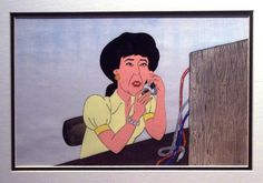awesome Lily Tomlin as Ernestine, the Telephone Operator Original Animation Cel - Comedy Classics