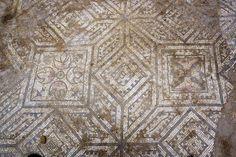 Mosaico romano de Astorga Cuadros y estrellas