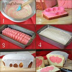 Heart inside cake... Cool idea