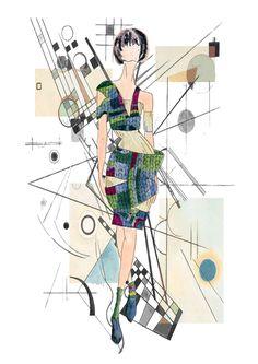 Brigitte Jornot Fashion Illustration for Feel the Yarn 2017 Brigitte Jornot Fashion Illustration for Feel the Yarn