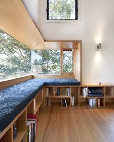 Half window seat & half bookshelf ~ Alphington House by Zen Architects 🌿