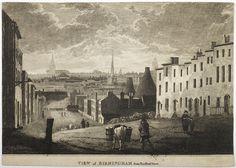 View of Birmingham from Bradford Street, 1816