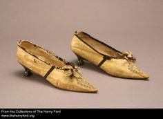 Women's Slippers, 1795-1805, via The Henry Ford Museum.