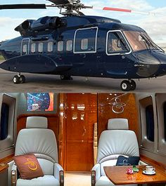 If you thought the other choppers were luxurious, you haven't seen anything yet. At 17 Million, Sikorsky S-92 VVIP, lined with wood and leather, looks pretty luxurious and comfy. This is one bad boy anyone would love, do you agree??