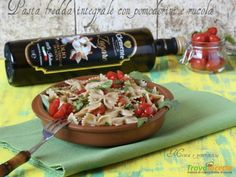 Pasta fredda integrale con pomodorini e rucola  #ricette #food #recipes