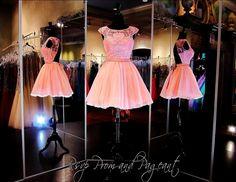 Blush Pleated High Neckline Short Homecoming Dress