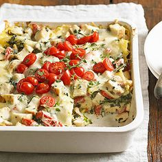Chicken Caesar Lasagna Serve this recipe, which includes whole  wheat noodles, when you crave classic comfort food but want to add a healthy spin.