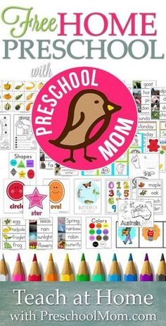 Teach Preschool at Home with FREE Printables - Homeschool Giveaways