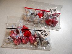 The Rubber Cafe - XOXO- Valentine clear pillow box
