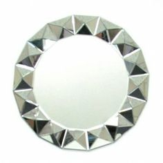 Bevelled 3D Round Wall Mirror - 32 diam.in.
