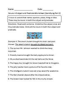 Englishlinx.com | Subject and Predicate Worksheets | Englishlinx ...