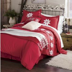Comforter Set, Nordic Embroidered from Through the Country Door® Nordic Bedroom, Country Bedding, Christmas Bedroom, Make Your Bed, Comforter Sets, Bed Spreads, Home Accents, Comforters, Master Bedroom