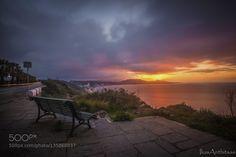 sunset in Rhodos by iliasanthitsas