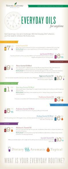 Everyday Oils Clock Infographic