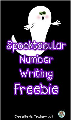 Halloween FREE Printable for Kids! Students practice writing numbers. Perfect for Pre-K and Kindergarten! Click here to browse through more halloween activities, printable, center ideas, and freebies. #halloweenteachingideas