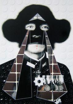"""Saatchi Art Artist Hayley Lock; Collage, """"Wimps bitch"""" #art"""