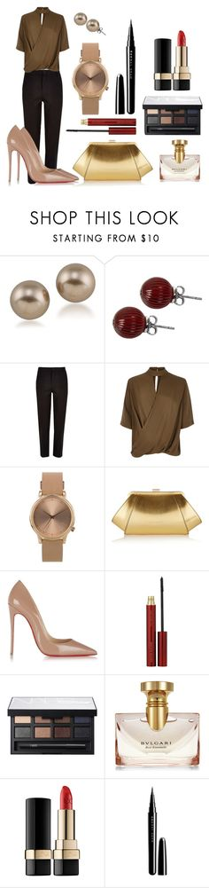"""""""Untitled #6"""" by jomail on Polyvore featuring Carolee, Lalique, River Island, Topshop, ZAC Zac Posen, Christian Louboutin, Kevyn Aucoin, NARS Cosmetics, Bulgari and Dolce&Gabbana"""