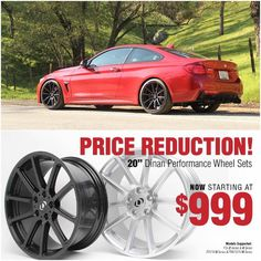 Dinan is offering discounts on their 20-inch performance wheels sets for the BMW F3x 3- and 4-Series F07/F10 5-Series and the F06/F12/F13 6-Series. Contact us to scoop your set up sales@vividracing.com or call 1.480.966.3040!  #dinan #dinancars #bmwwheels #bmwm4 #bmwm3 #vividracing