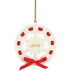 Lenox Ornaments Annual 2014 Christmas Wrappings Snowflake
