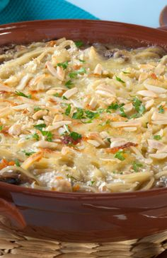Easy and delicious, this healthy Turkey Tetrazinni is the perfect dish to feed a crowd.